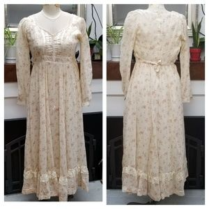 🌈VINTAGE | Gunne Sax Boho Floral Dress SZ 9